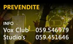 Prevendite Vox Club