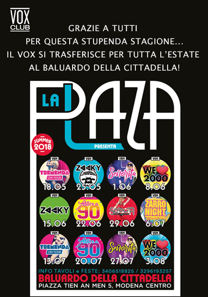Stagione estiva Vox 2017/2018